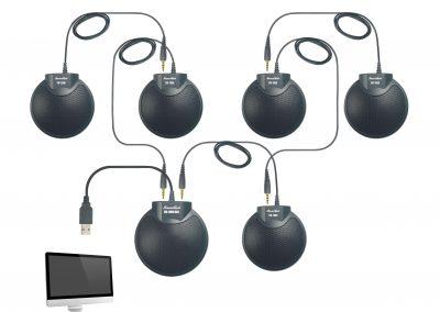 enregistrement audio - branchement 6 microphones