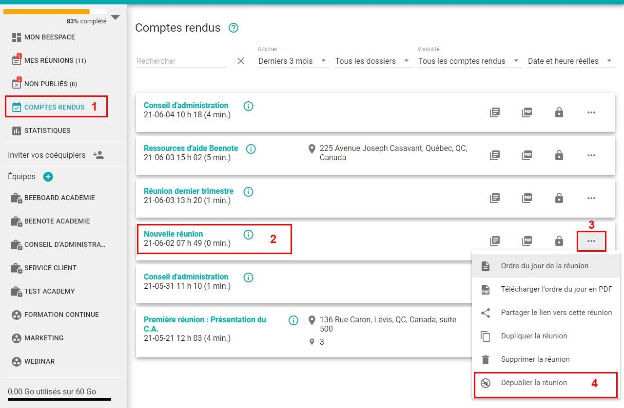 3B-Bennote-Editer un compte rendu publie