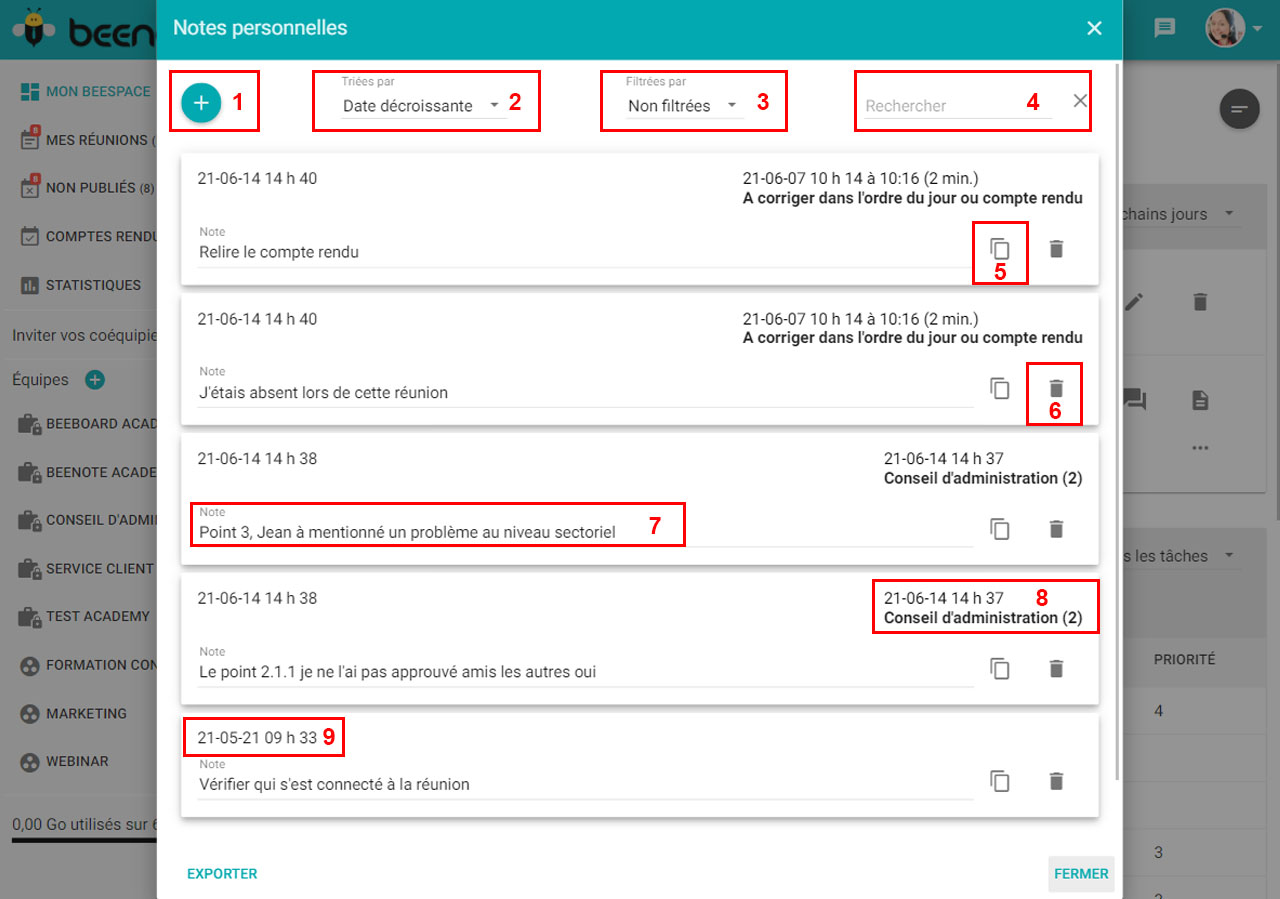 Beenote-gestion-notes-personnelles-recherches