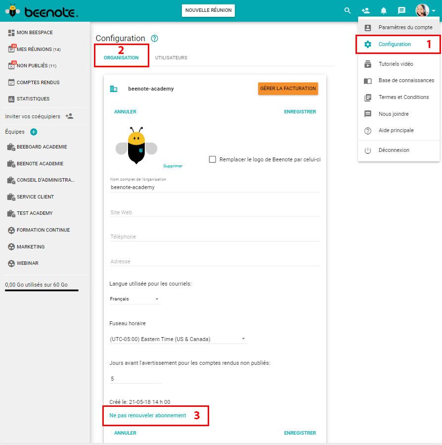 Beenote-Admin-Parametres-ne-pas-renouveler-abonnement